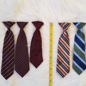 Other - 6 clip on Neck Ties for boys girls youth toddlers